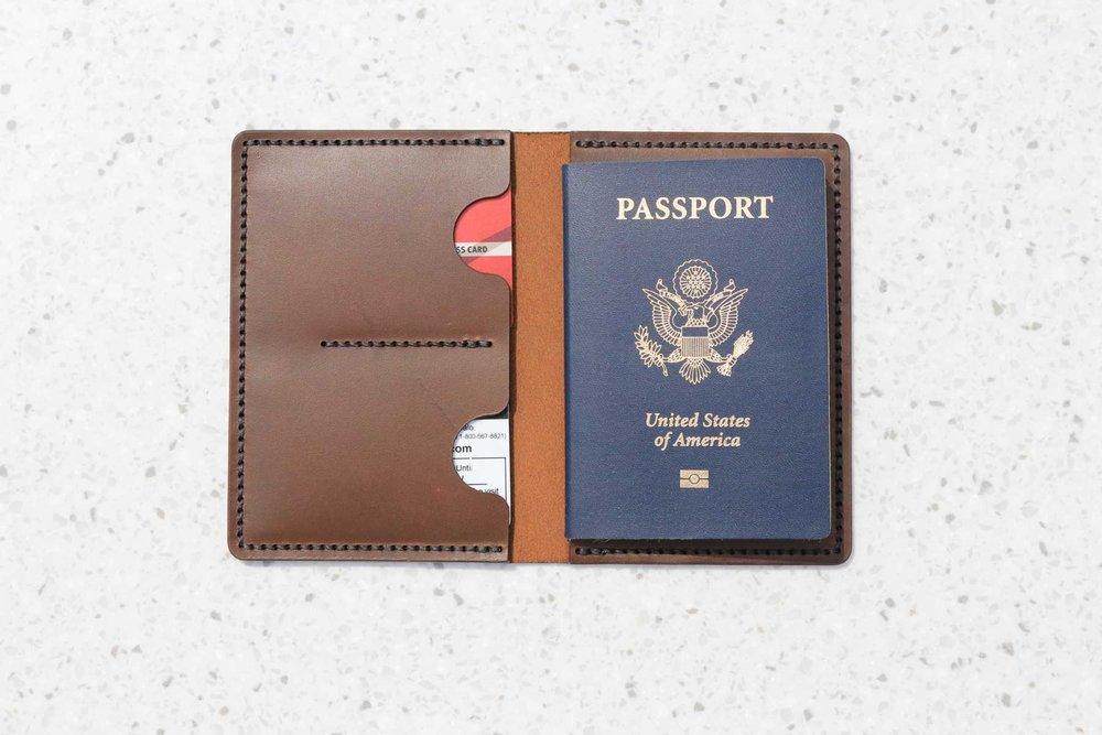 Passport Case Brown