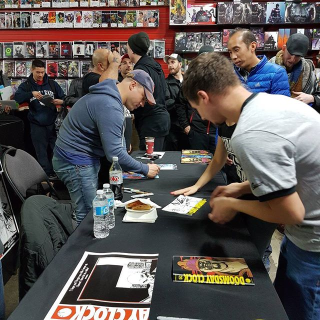 More photos from last night's Craziness. #dccomics #geoffjohns