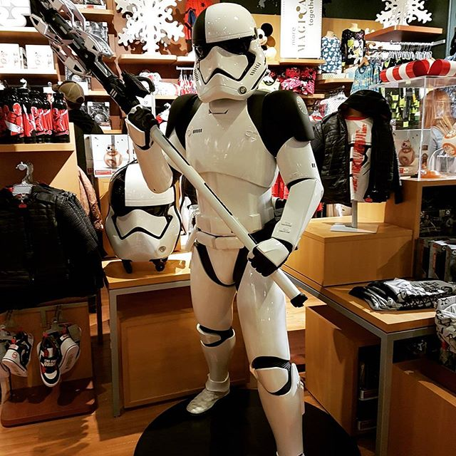 Apparently the life size stormtrooper is not for sale at the Disney store. #starwars