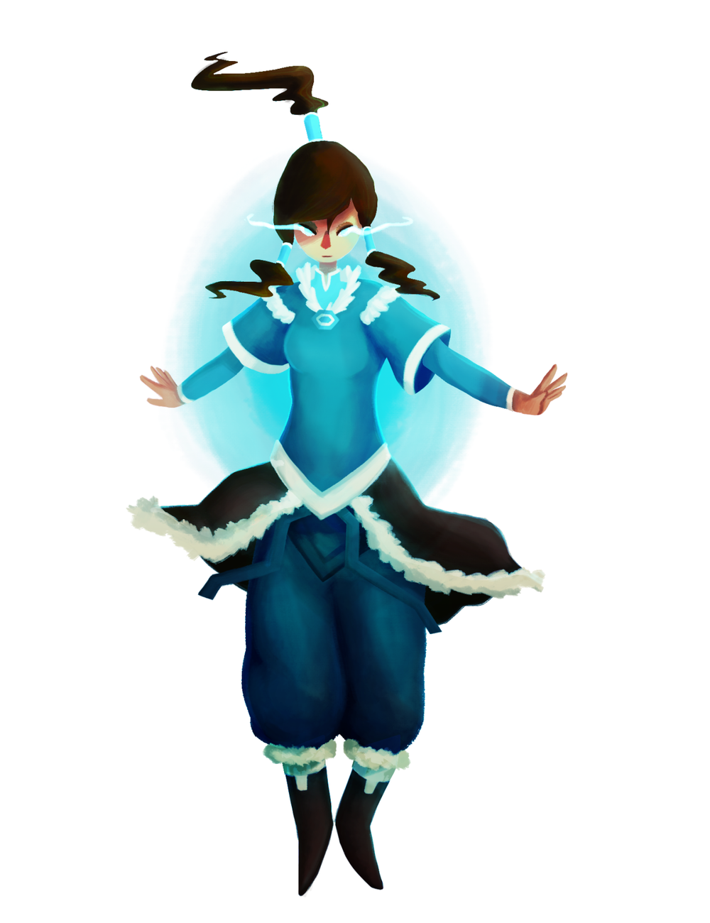 #311 Finished Korra in avatar state