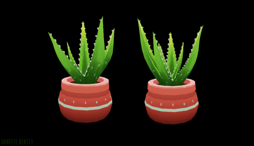 #139 is an aloe pup! I may begin the transition of doodles to 3d…