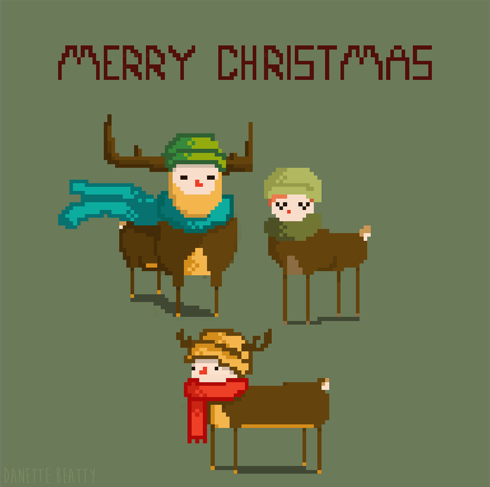 #118 is a holiday greeting from your friendly neighborhood centaur- reindeer family
