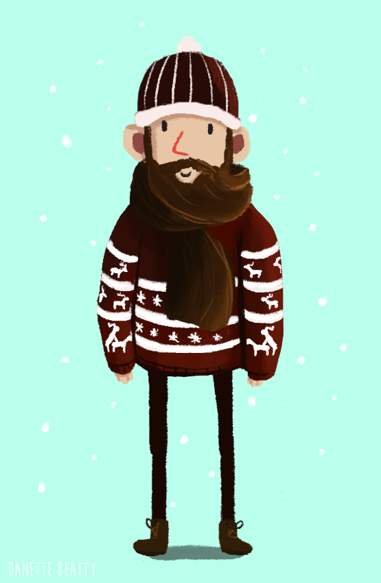 #111 is beard scarf hipster