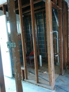 Master bath on the 2nd floor is starting to take shape.