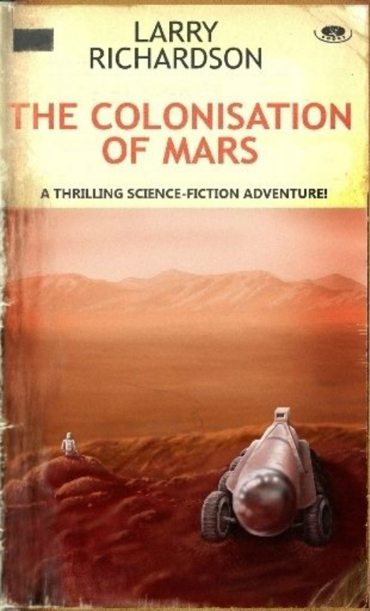 The Colonisation of Mars - It is 2040 and the 'Race to Mars' is long over. A large group of 'expendable' senior scientists has been sent on a one-way trip to establish a permanent Martian colony. Eccentric recluse Sam Aiken shuns the soft life in the 'Tube'. With his quirky Rollagon AI he explores the polar caps, Valles Marineris, climbs 'The Face' and Olympus Mons, digs through the wreckage, cast-off equipment and graves of early explorers and finds an ancient Martian lifeform. Delusional, manipulated by unseen forces and tormented to the edge of madness he drifts aimlessly through the Mars of Bradbury, Heinlein and others in search of sanctuary. He uncovers instead the shocking ruse behind the Colony and the ultimate reason why he was spared.By the way, the cover is modeled after Signet Books from the 1950s. And not by accident.