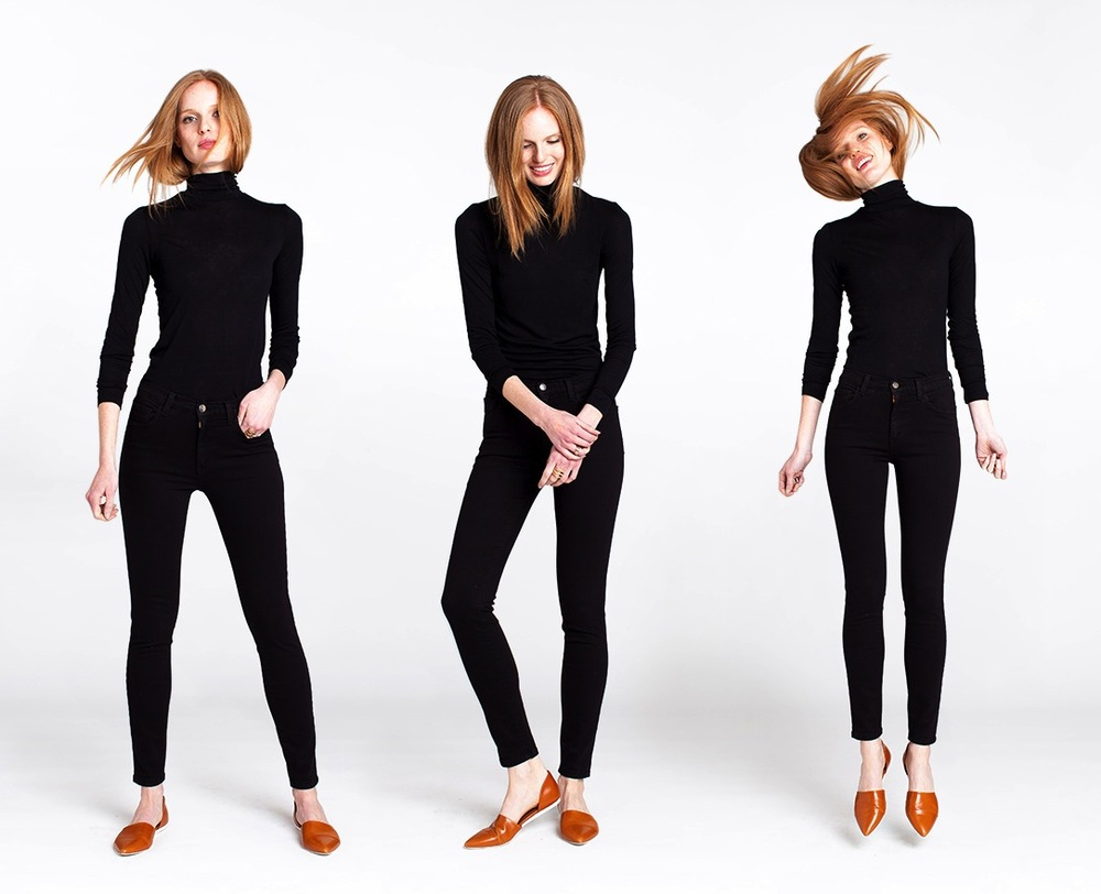 Back to Black - an example of brand & photographer working together to choose selects. Shot by Matt Hillman