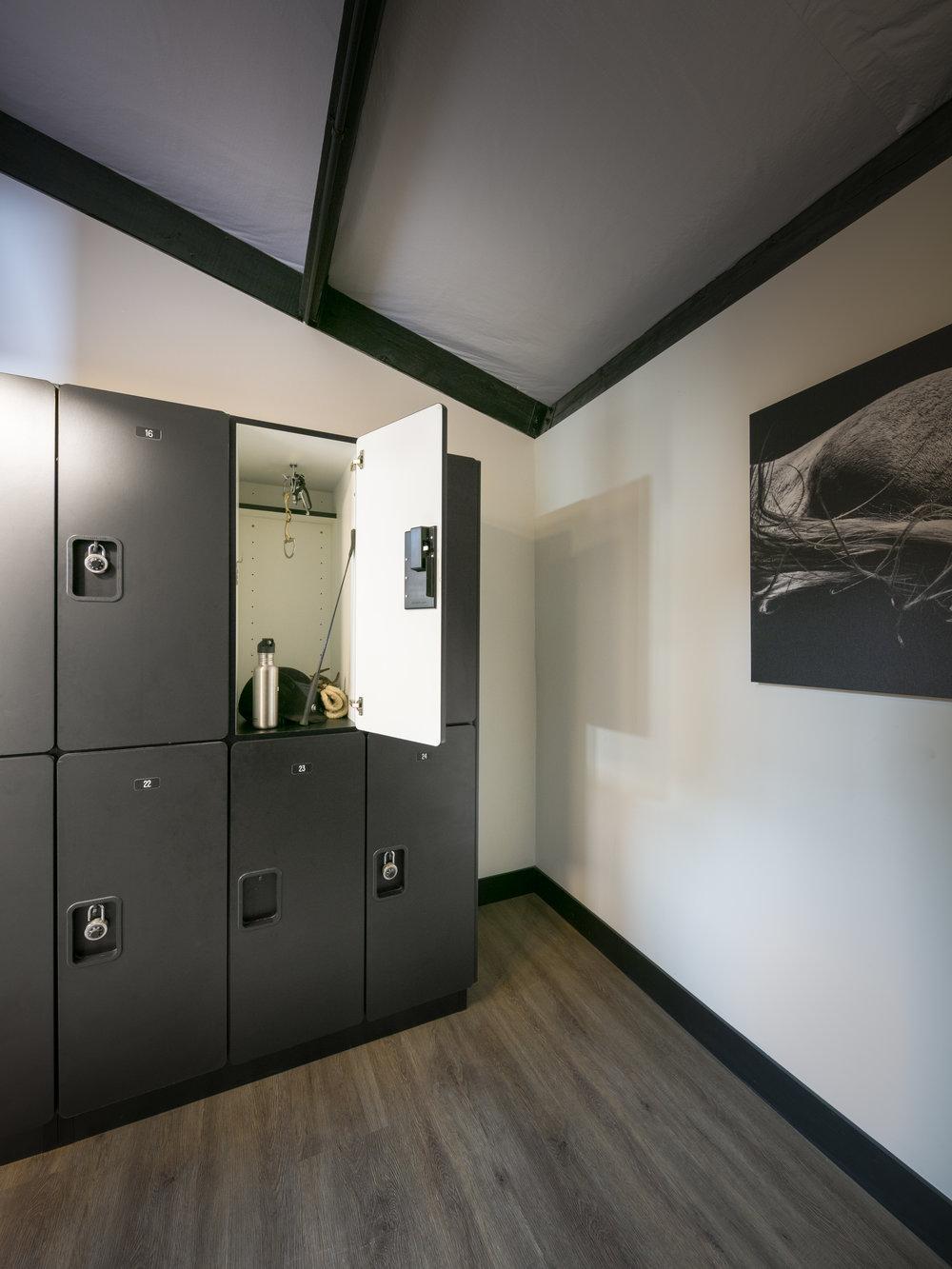 Locker Room.