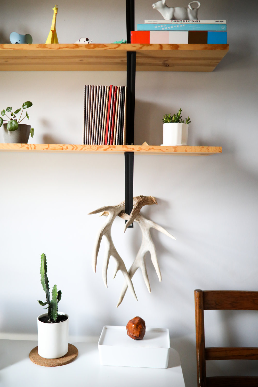"CONVIVIAL -  Medium Minimal Vase  +  3"" Riveted Planter"