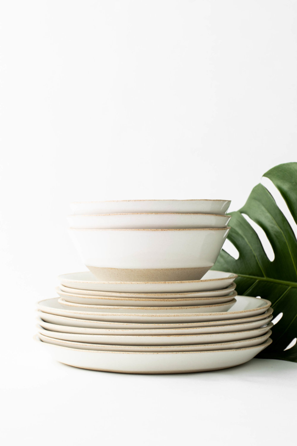Assorted Minimal Dinnerware -  SAND