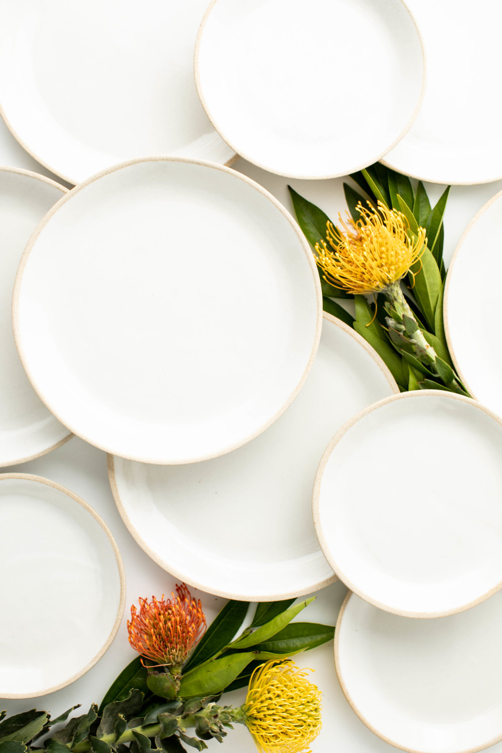 Assorted Minimal Dinner and Salad Plates -  SAND