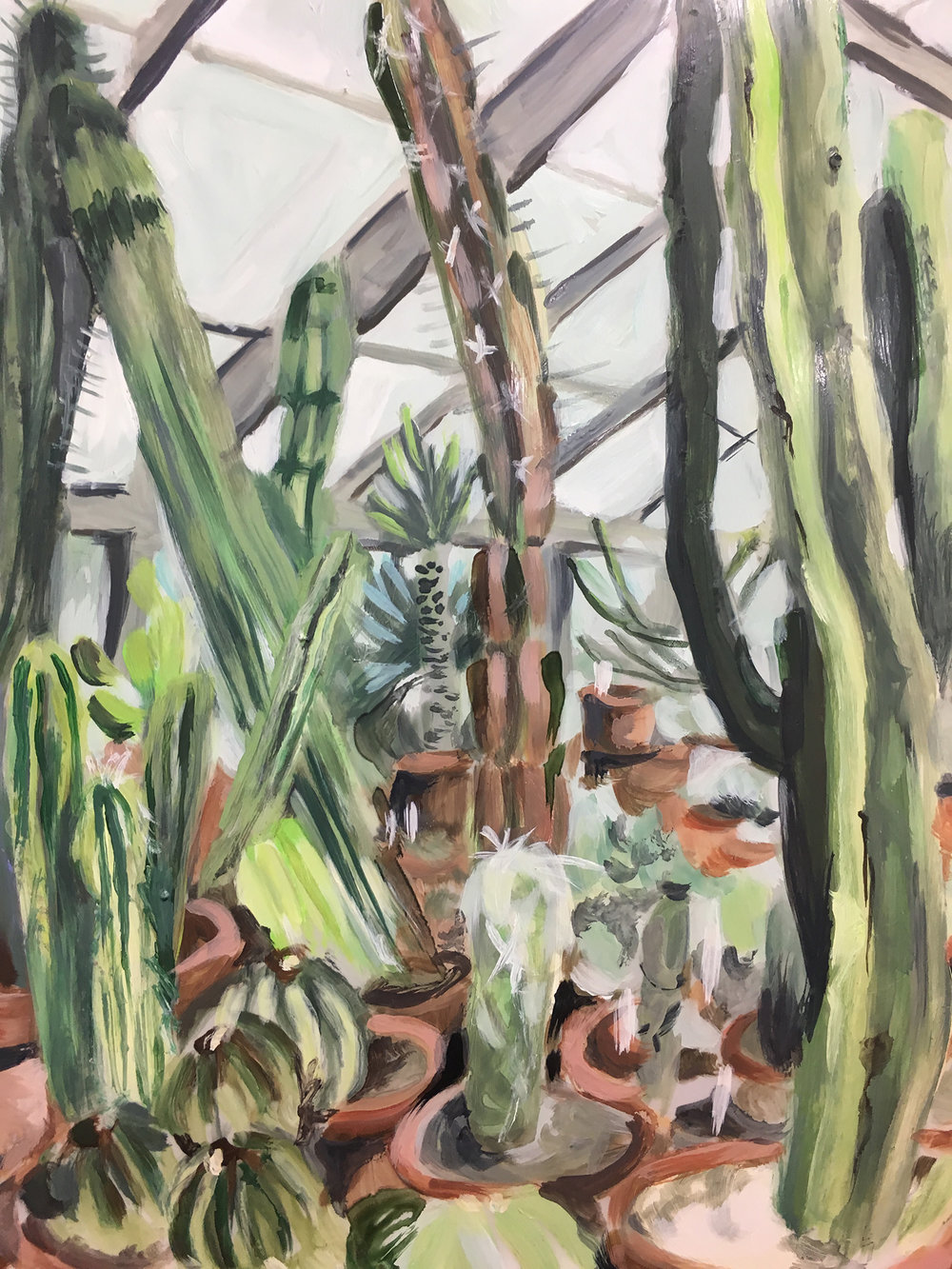 "Plants in Captivity No. 12 | Oil on Duralar | 11 x 14"" L"
