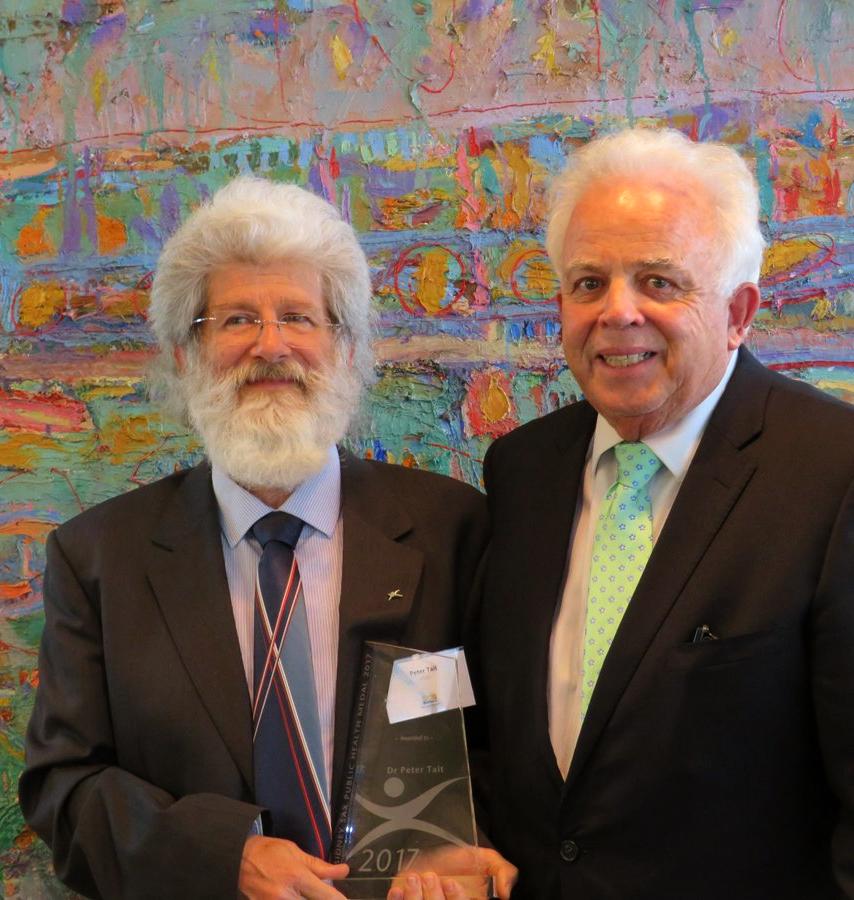 Dr Tait awarded Sidney Sax Public Health Medal October 2017 .jpg