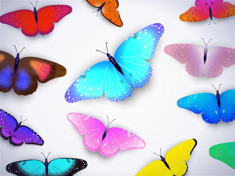 iOS Stickers - Butterflies!