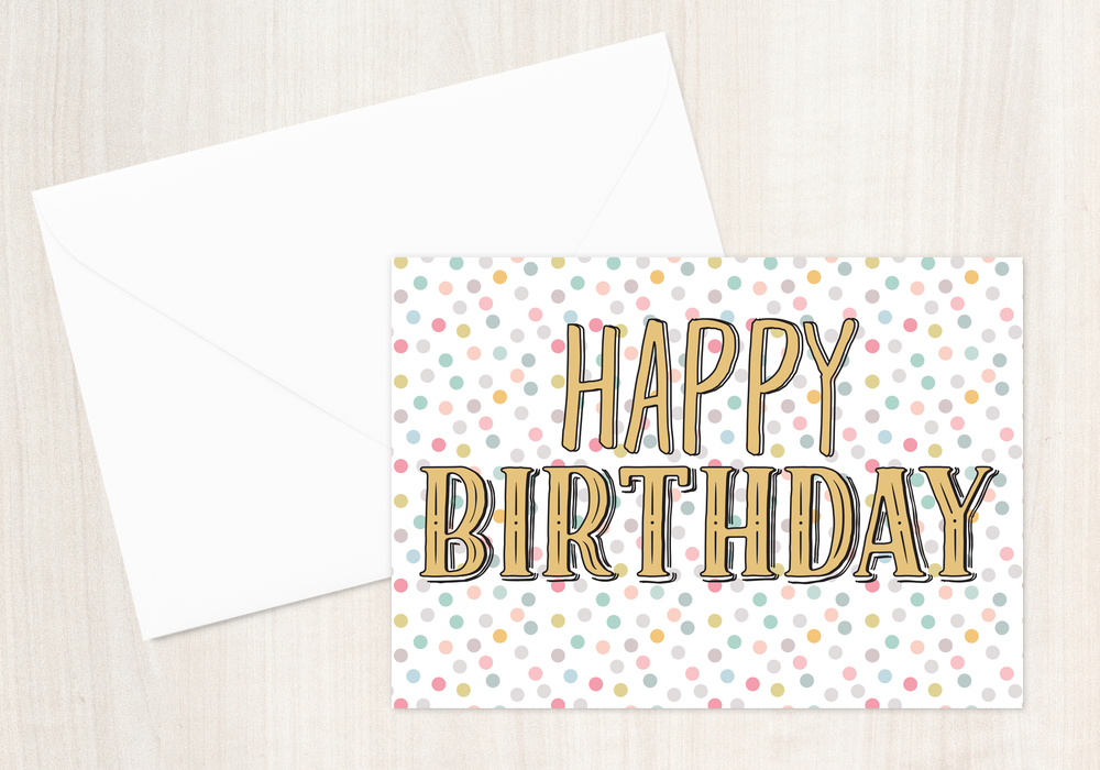 Happy Birthday Dot Greeting Card