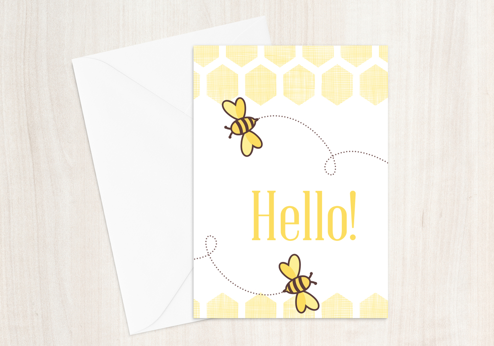 Hello! Bees Greeting Card