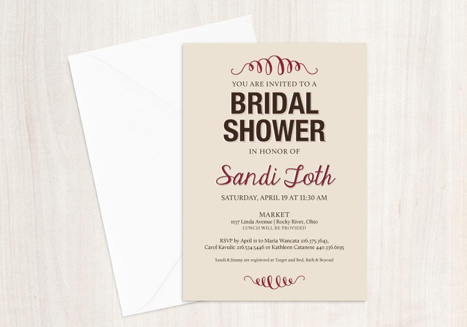 Swirls Bridal Shower Invitation