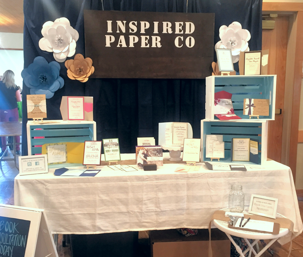 Inspired Bridal Show Wedding Invitation Booth