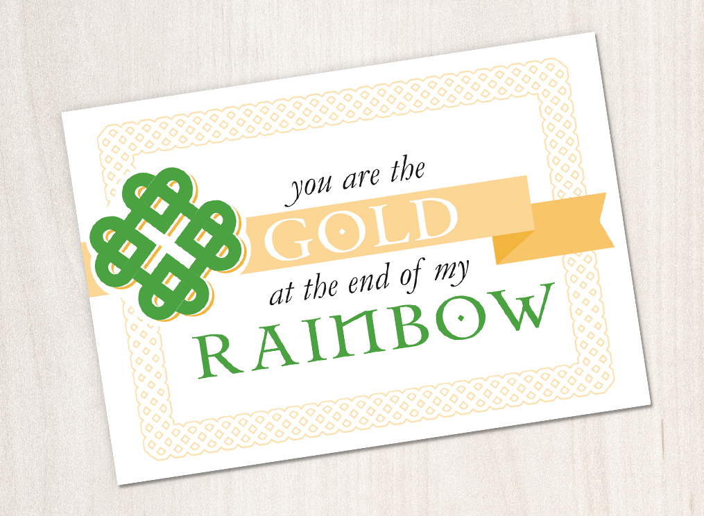 Download our Love Knot notecard and share with someone special this St Patty's Day!
