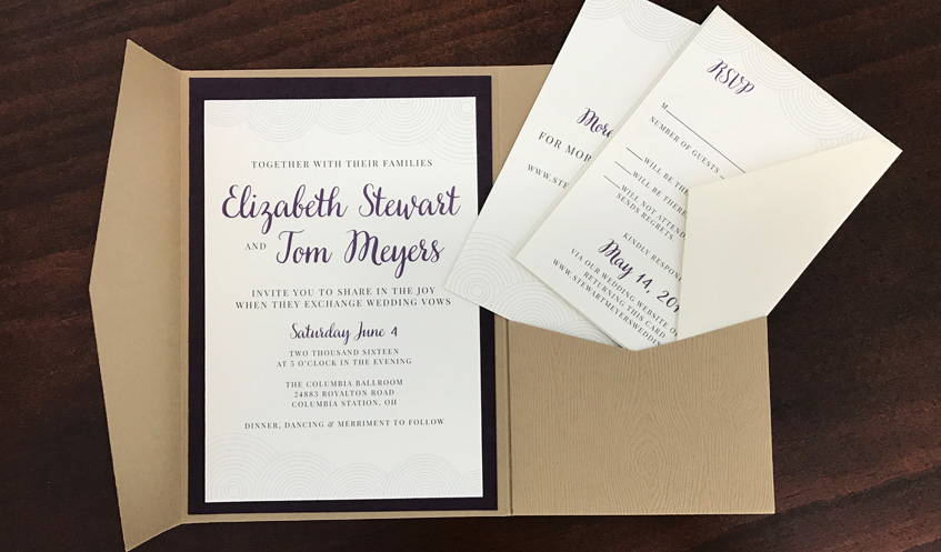 This Sophisticated Rustic Invitation Suite Utilizes Linen Textured Paper On The Invitations And Inserts