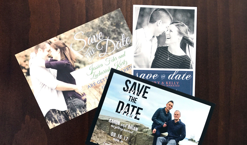 Save the Date cards are a pre-invitation that let guests know they are invited to the big day!