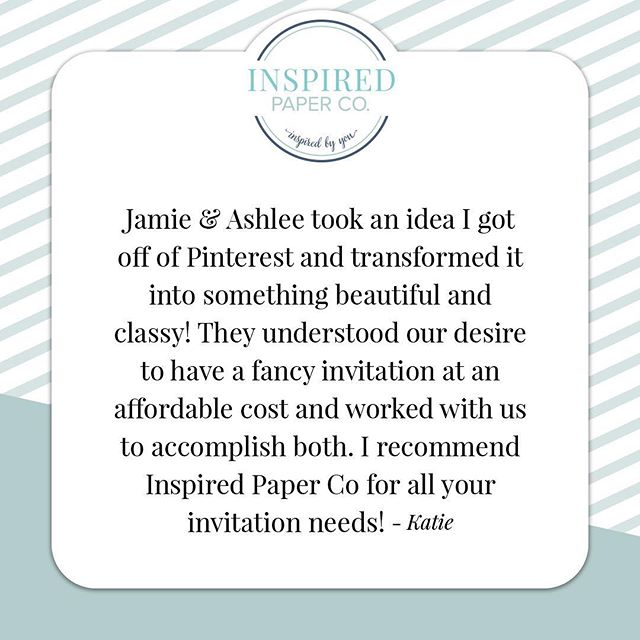 Our customers say it best! It was a pleasure working on these bachelorette invitations, they'll be up in the gallery soon! #testimonial #review #invitation #bachelorette #design #akron #cleveland #party