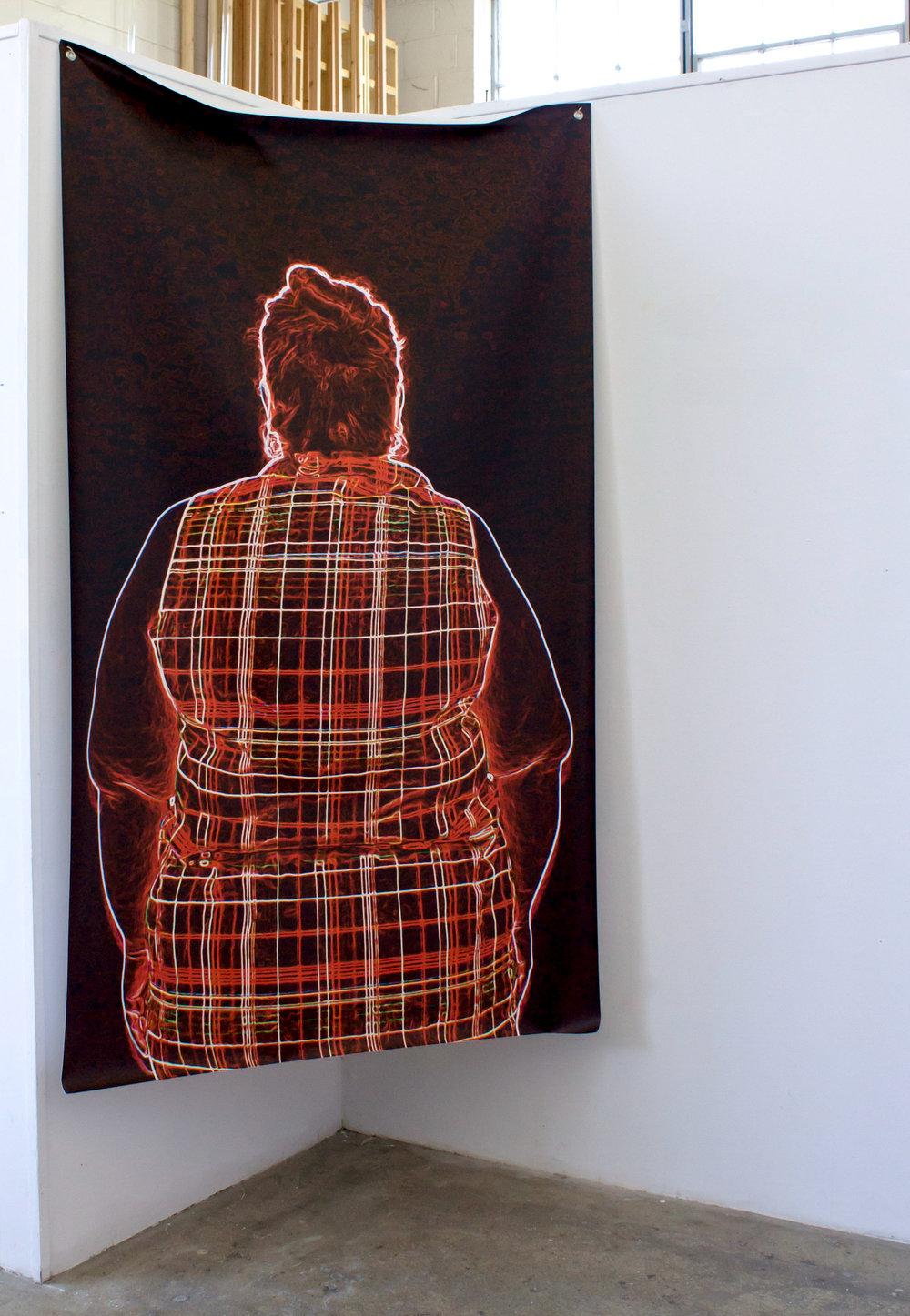 untitled (anonymous series)  Inkjet print on vinyl 8' x 4' 2016