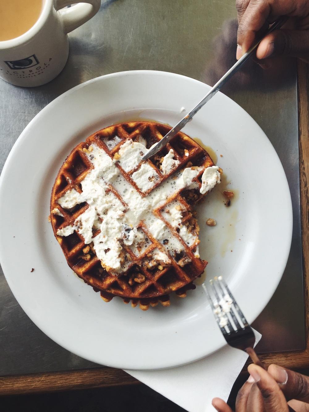 Sweet Potato Waffle = num num num