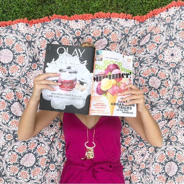Ahhhh summer in the grass - best feeling ever. I took this shot in my backyard. The blanket is actually a tablecloth from @target but was so cute I couldn't resist using it as a prop. ;). Looking for a robust social strategy & quick turnaround on social content?  Message me! . . . .  #summer #sunshine #happiness #joy #sun #digitalmarketing #digitalcontent #content #socialmediamarketing #social