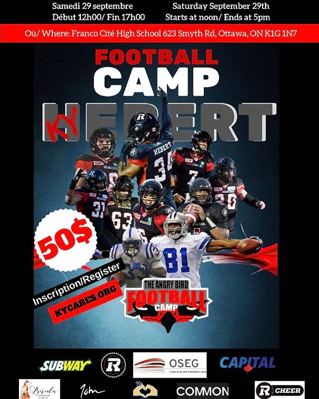 KY HEBERT Football Camp is coming up Sept 29th! Get your tickets NOW. Link in the bio.