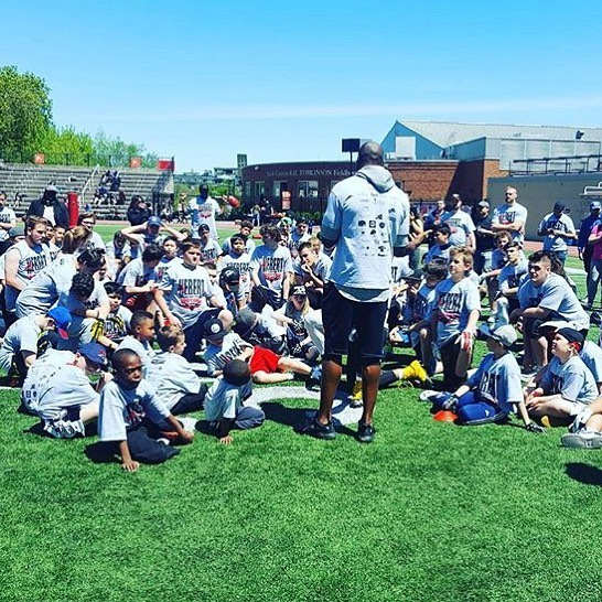 Motivational speech by the one and only @terrellowens at last year's @kyhebert Football camp. Get you ticket and get the opportunity to work with a football Hall of Famer and Legend!