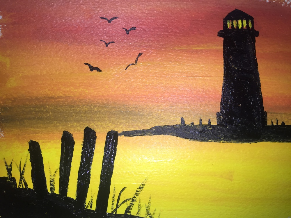 This lighthouse class will cost only $25 including a FREE select appetizer.. Purchase tickets  here!