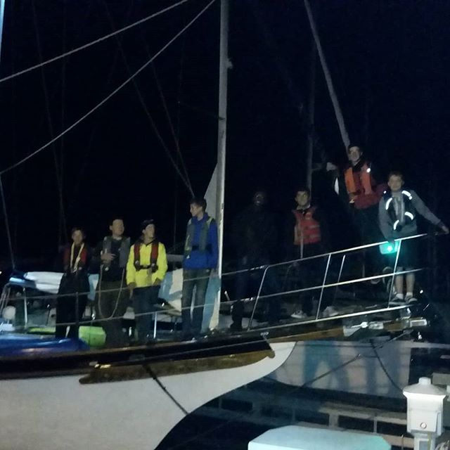 Sea Scout Ship Luna departing at night.  Heading to Isle Royale.  They'll be back in 10 fays