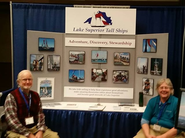 Our intrepid volunteers, Greg and Nancy, are manning the booth at the Gales of November today in Duluth.