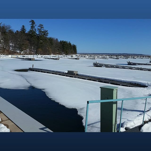 Although launch is still about two months away, we are excited to see our slip is starting to open up.  It's been a long, cold winter and we can't wait to be sailing again.  We have a lot of great things in the works for this summer, so stay tuned.