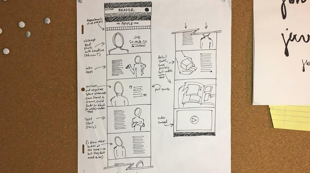 Original sketch for the 2013 site.