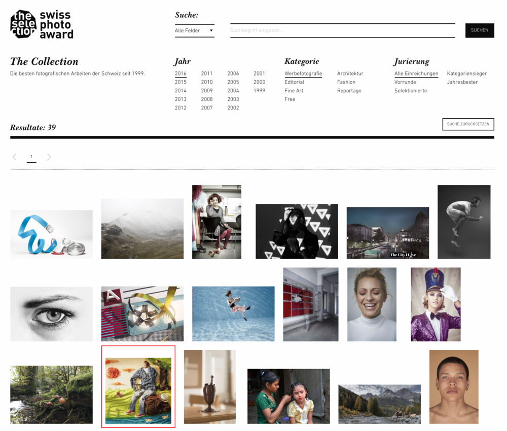 The Collection  The best photographic work of Switzerland since 1999.    See more...