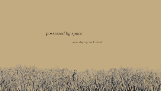 possessed by space second chapbook of press founder mychael zulauf written over the span of two weeks while in residency at Art Farm purchase here