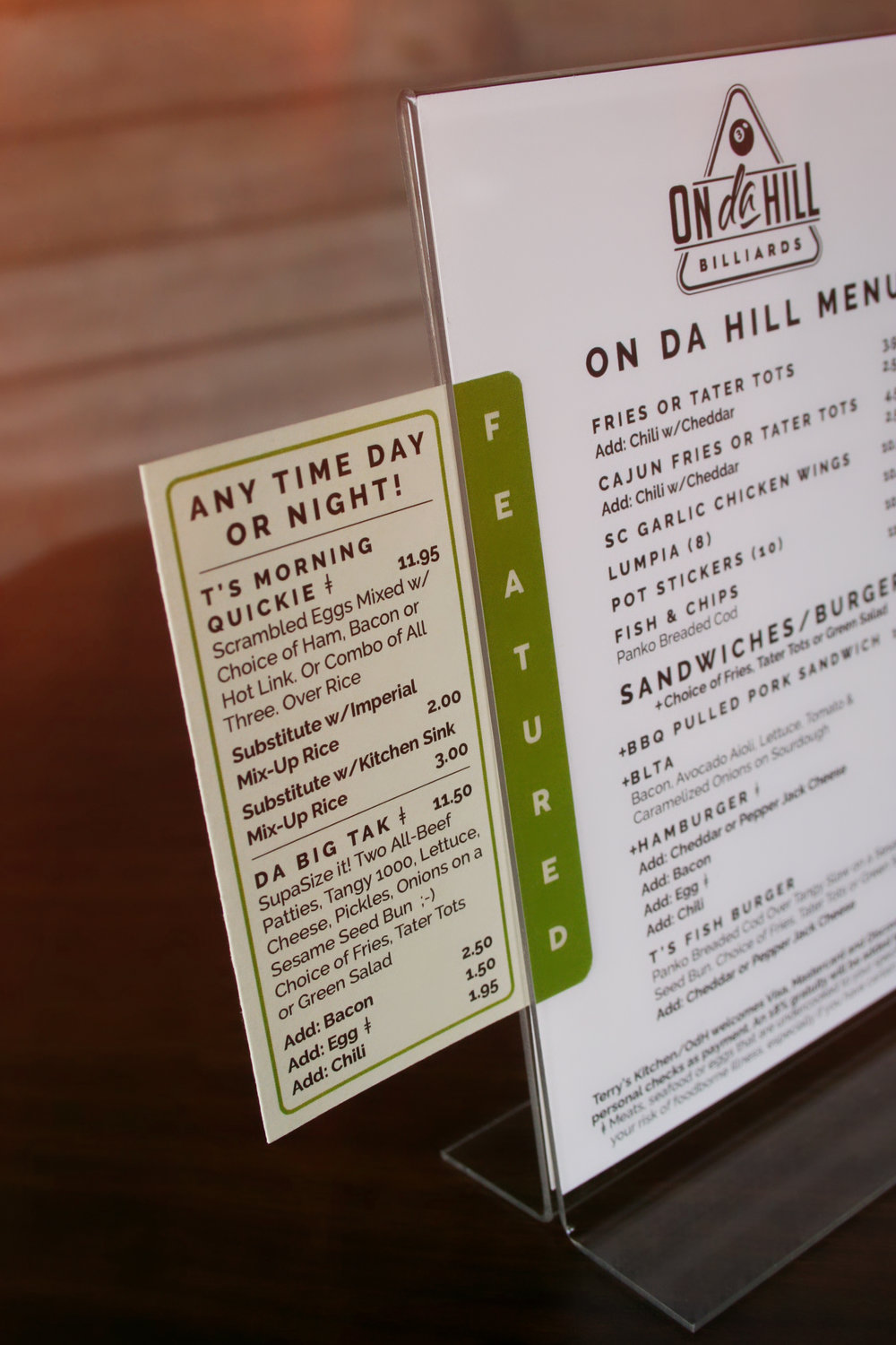 OdH Featured Menu
