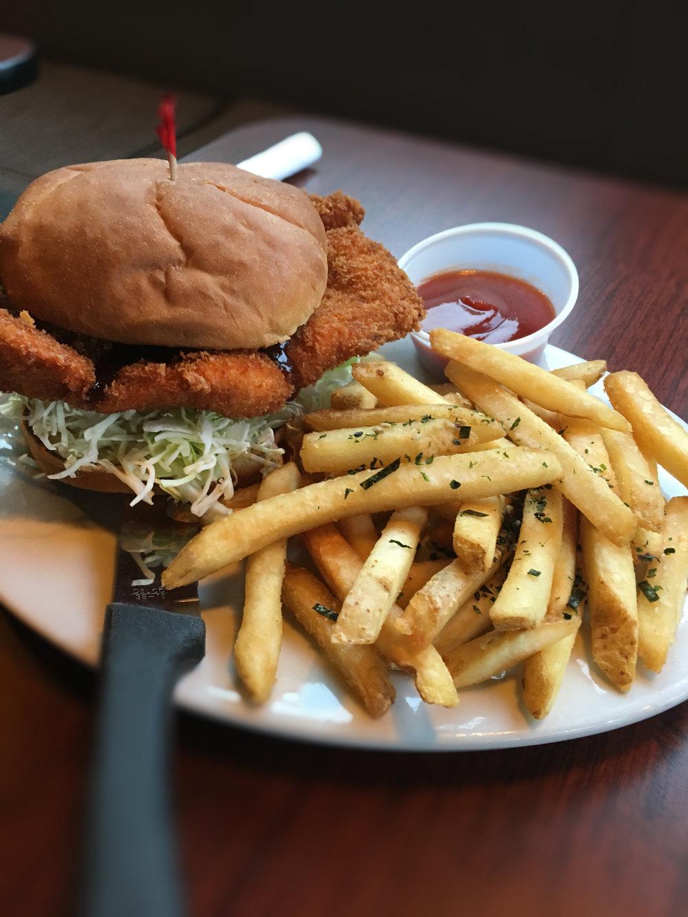 T's Pork Komfort Katsu Burger