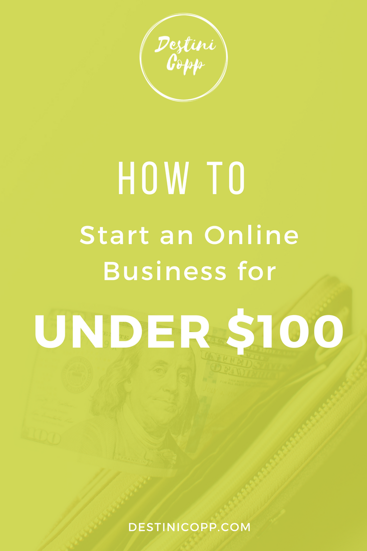 How to Start an Online Business for Under $100