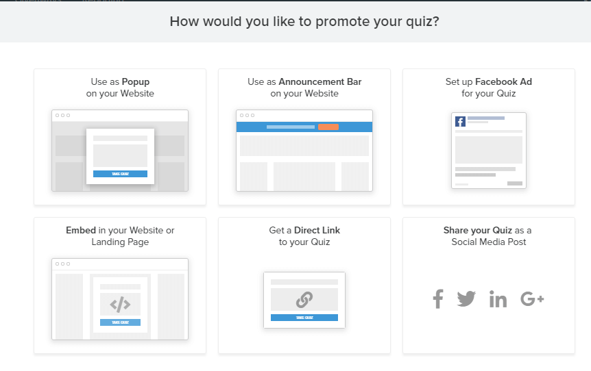 Promote your quiz