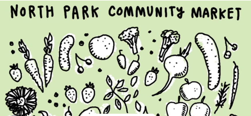 NORTH PARK COMMUNITY MARKET  -  5510 N. Christiana Ave  -  October 29th ,  9a - 1p