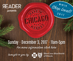 MADE IN CHICAGO HOLIDAY MARKET -  Plumbers Hall  1340 W Washington Blvd Ste 201  -  December 3rd, 11a-5p