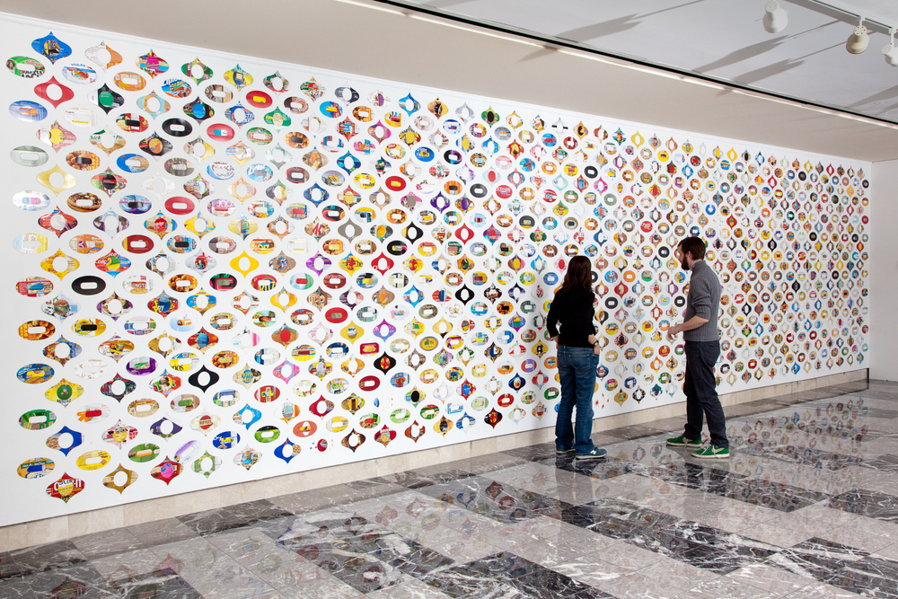 Dreck Groove Reclaimed paper Installation view