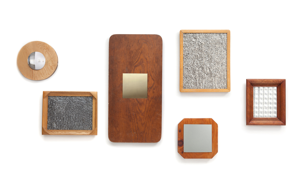 Mirrors, 2016, Reclaimed wood, glass and metal, dimensions variable