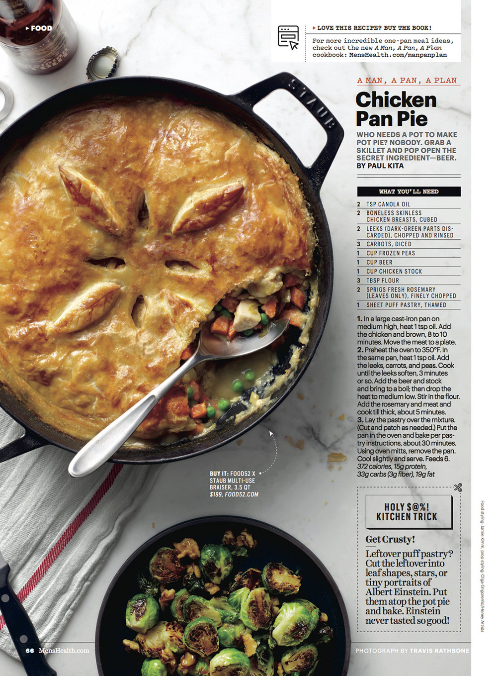 Chicken Pan Pie // Men's Health