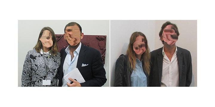 Left- Dealer Amanda Hoffman and art advisor Sacha Zerbib. Right- Artist Sophie Giraux and art consultant Patrick Letovsky_01.jpg