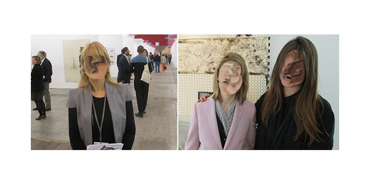 Left-Art Brussels director Katerina Gregos. Right- Dealer Elizabeth Dee and artist Gabriele Beveridge. (All photos-Julian Elias Bronner)_01.jpg