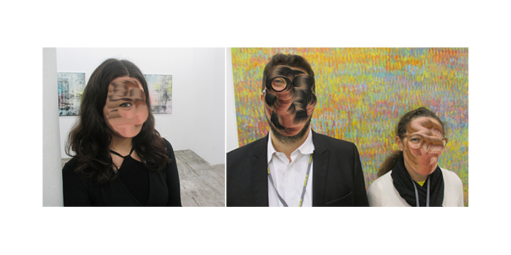 Left-Artist Donna Huanca. Right- Dealers Philippe and Frédérique Valentin_01.jpg
