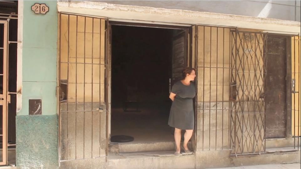 "still from Tania Bruguera—A State of Vulnerability  https://vimeo.com/162320175#t=600s    ""...I think the goverment did a piece for me...""  Her latest work explores censorship and vulnerability in the work of artist Tania Bruguera. ""Documenting the personal and emotional fallout of Bruguera's unjust detentions, Hershman Leeson's new film Tania Bruguera—A State of Vulnerability observes the artist's sessions with psychiatrist Dr Frank Ochberg, one of the founding fathers of modern psycho-traumatology who helped first define Post Traumatic Stress Disorder. An intimate and profound discussion of family disorders and cultural trauma emerges as the film touches on the various ways in which censorship of both the family and society have come to shape Bruguera's aesthetic."" [source:  http://www.lynnhershman.com/film/ ]  Screen Shot 2016-08-27 at 12.38.39 pm"